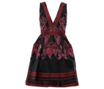 Embroidered Organza Mini Dress Black