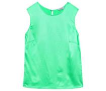 Shell Silk-satin Top Jade