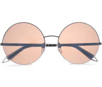 Supra round-frame gunmetal-tone and acetate sunglasses