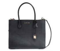Pebbled-leather Tote Black Size --