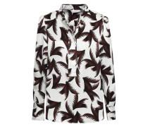 Gosford Printed Silk-jacquard Shirt Off-white