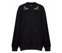 Embellished cotton-fleece sweatshirt