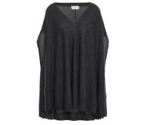 Fuji Cashmere Poncho Dark Gray Size ONESIZE