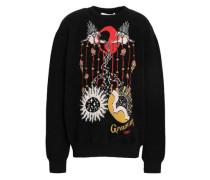 Wool-blend Jacquard Sweater Black