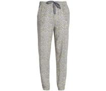 Leopard-print jersey pajama pants
