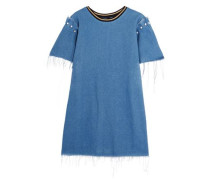 Lloyd frayed embellished denim mini dress