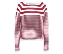 Striped Cotton Sweater Claret