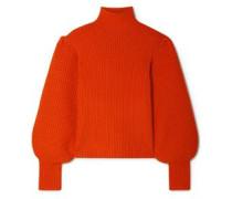 Woman Wool-blend Turtleneck Sweater Papaya