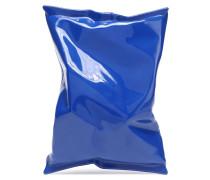 Woman Crisp Packet Perspex Clutch Bright Blue