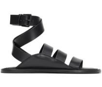 Leather Sandals Black