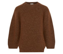 Alliance Marled Ribbed-knit Sweater Brown