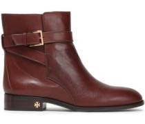 Woman Leather Ankle Boots Brown