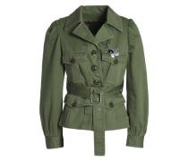 Embellished Cotton Jacket Army Green Size 0