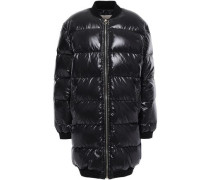 Quilted Glossed-shell Down Coat Black