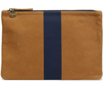 Two-tone Painted Leather Pouch Camel Size --