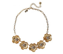 Gold-tone Crystal Necklace Gold Size --