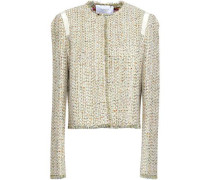 Frayed Tweed Jacket Gold