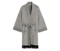 Fringed Supima cotton-blend terry robe