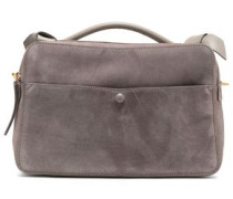 Ayers-trimmed leather and suede tote