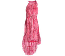 Primrose Floral-print Ruffle-trimmed Woven Dress Pink