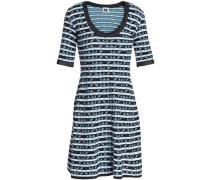 Cotton-blend Jacquard Mini Dress Black