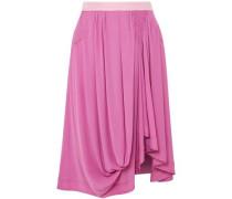 Draped Jersey Midi Skirt Pink