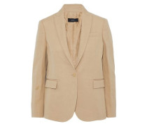 Ramie And Cotton-blend Twill Blazer Sand