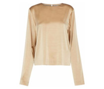 Margaux silk-blend satin blouse