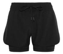 Wilma Layered Stretch Shorts Black