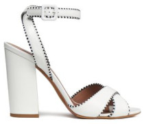 Connie Leather Sandals White
