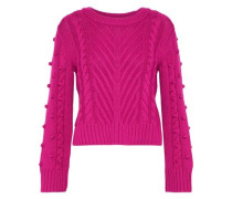 Aubry pompom-embellished cable-knit wool sweater