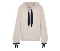 Bow-detailed Cashmere Hoodie Neutral