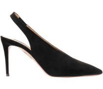 Suede Slingback Pumps Black