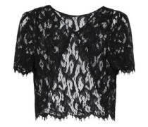 Open-back corded lace top