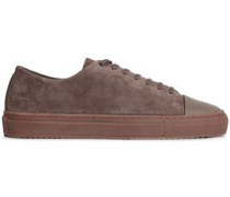 Suede And Leather Sneakers Brown