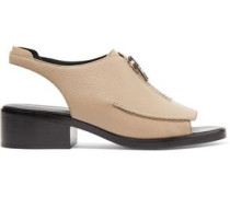 Alexa textured-leather slingback sandals