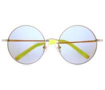Round-frame Gold-tone Sunglasses Gold Size --