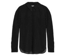 Metallic fil coupé chiffon shirt
