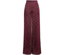Knitted Wide-leg Pants Claret