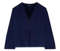 Gathered silk blouse