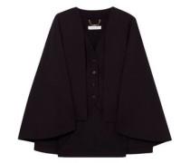 Woman Cape-effect Wool-blend Vest Black