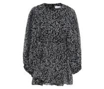 Tie-back Printed Silk-georgette Blouse Black Size 0
