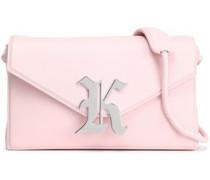 Embellished Leather Shoulder Bag Baby Pink Size --