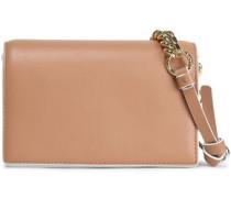 Leather Shoulder Bag Camel Size --