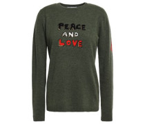 Mélange Intarsia Wool-blend Sweater Dark Green