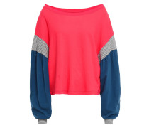 Woman The Two Step Color-block Cotton-jersey Top Red
