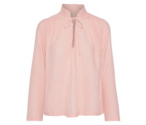 Jerry Gathered Twill Blouse Baby Pink