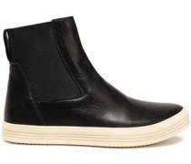 Mastodon Leather High-top Sneakers Black
