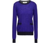 Two-tone Cashmere Sweater Indigo