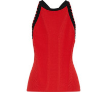 Brandy Ribbed-knit Tank Red
